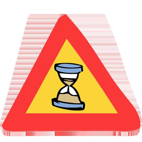 panneau de signalisation sablier