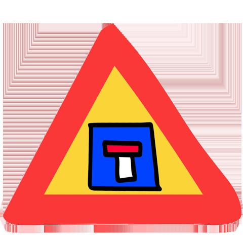 panneau de signalisation voie sans issue