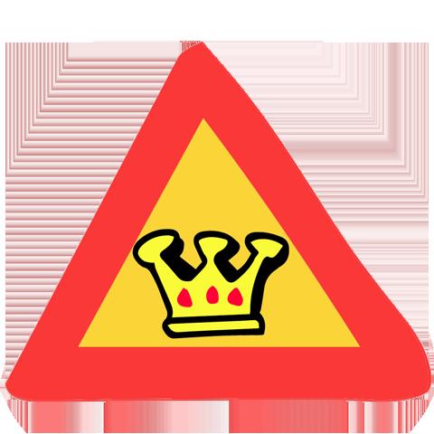 panneau de signalisation couronne