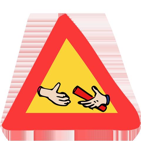 panneau de signalisation baton de témoin