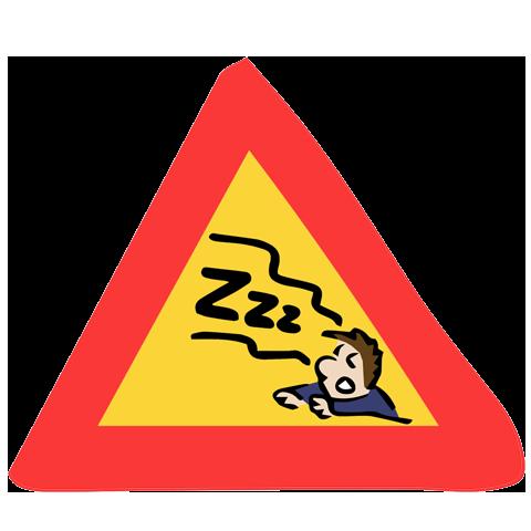panneau de signalisation personne qui ronfle